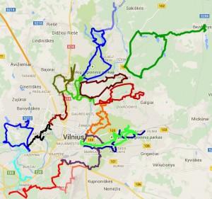 Maršrutų žemėlapis
